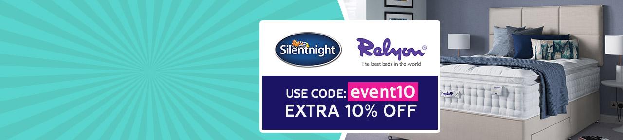 10% Off Relyon & Silentnight Offer